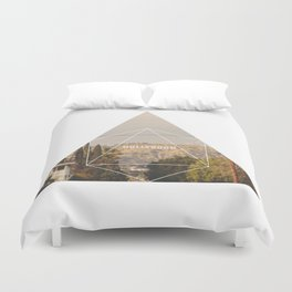 Hollywood Sign - Geometric Photography Duvet Cover