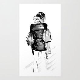 Vera Wang Sketch Art Print