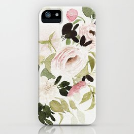 Romantic Loose Rose Bouquet iPhone Case
