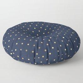 Elegant Gold Polka Dots Floor Pillow