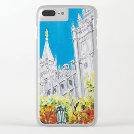 Salt Lake City Utah LDS Temple Clear iPhone Case