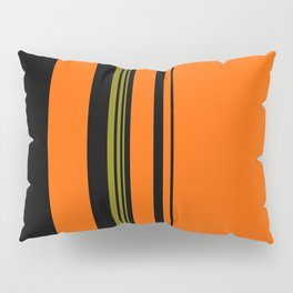 Orange Green Black Pillow Sham