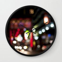Light Art | Melbourne city (Chinatown) Wall Clock