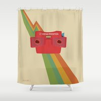 model Shower Curtains featuring Model J by Get Harry Design