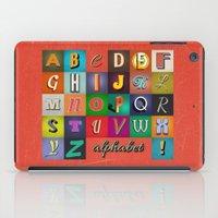 alphabet iPad Cases featuring Alphabet by rob art   simple