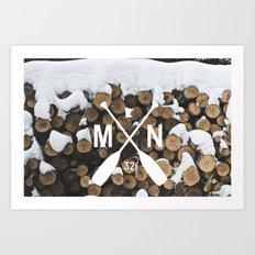 MN 32 Cross Paddle Northland  Art Print