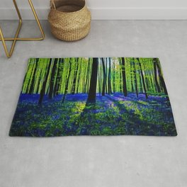 'Bluebells of the Rhode Island Spring' Landscape by Jeanpaul Ferro Rug