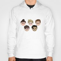 animal crossing Hoodies featuring Animal Crossing One Direction by Pinkeyyou