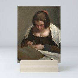 "Diego Velázquez ""The Needlewoman"" Mini Art Print"