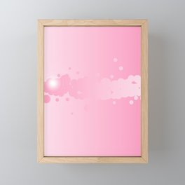 Abstract Pink Background Framed Mini Art Print