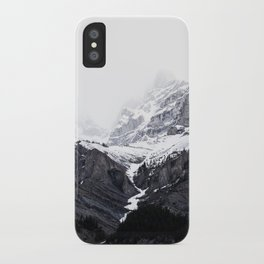 Moody snow capped Mountain Peaks - Nature Photography iPhone Case