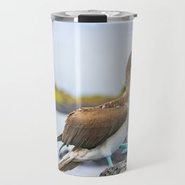 Blue-footed booby Galapagos bird Travel Mug