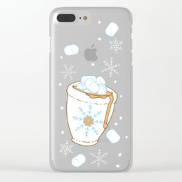 Snowing Marshmallow - Cocoa Clear iPhone Case