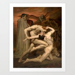 Dante and Virgil in Hell by William Bouguereau Art Print