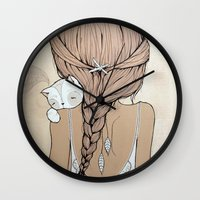 murray Wall Clocks featuring Stay Close by Kelli Murray