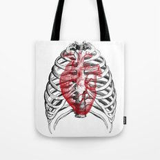 Heart Bones Tote Bag