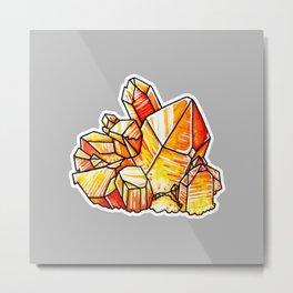 Tangerine Quartz Crystals Metal Print