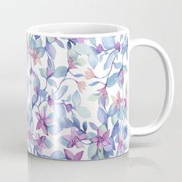 Colorful Watercolor Leaf Pattern Coffee Mug