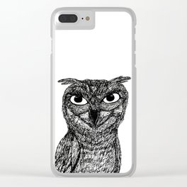 Owl Remember You Clear iPhone Case