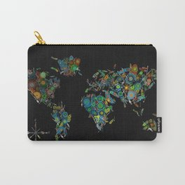 world map feathers mandala Carry-All Pouch