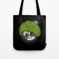 afro Tote Bags featuring Mundo Afro by Juan Pivaral