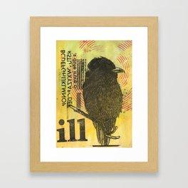 Bird illustration Framed Art Print