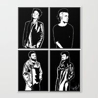 1975 Canvas Prints featuring 1975. by Spazy Art