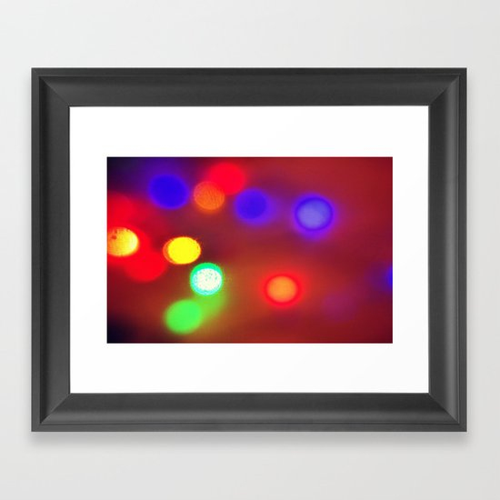 Colourful Lights Framed Art Print