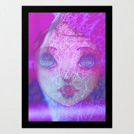 Caught in a web of lies Art Print