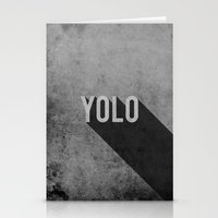yolo Stationery Cards featuring YOLO by Barbo's Art