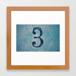 Number 3 Framed Art Print