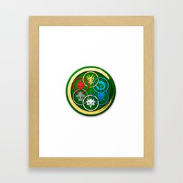 The Six elemental symbols Framed Art Print