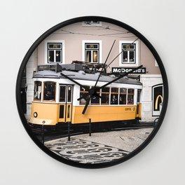 Yellow Tram 2.0 Wall Clock