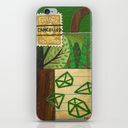 Nature Stamp Trees Wood Geometric Painting iPhone Skin