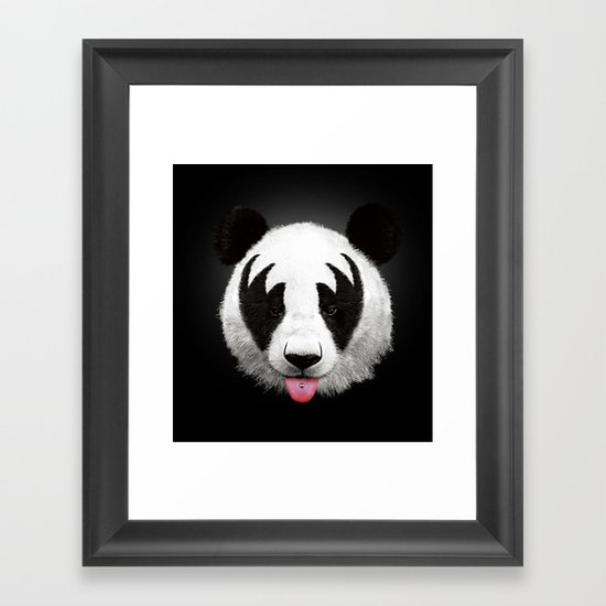 Kiss of a panda Framed Art Print