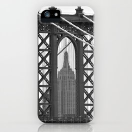 Empire State Building Photography Black & White Empire State Building Contest finalist iPhone Case