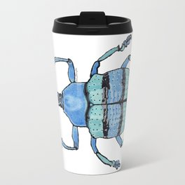 Upholstered Blue Weevil Travel Mug