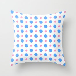 spot and blot 24 blue and orange Throw Pillow