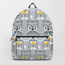 Super cute animals - Cute Kitty Cat Grey Silver Backpack