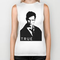 true detective Biker Tanks featuring True Detective by Green'n'Black