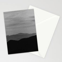 Fine mountains lines Stationery Cards