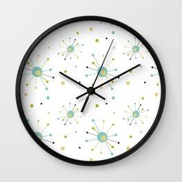 Atomic Starburst Mid-century Retro Pattern Wall Clock