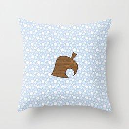 Animal Crossing Winter Leaf Throw Pillow