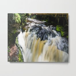 Blurred Lower Gorge Falls Metal Print