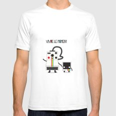 Vivre le moment SMALL White Mens Fitted Tee