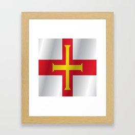 Flag of Guernsey Framed Art Print