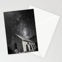 Church of the Good Shepherd under the stars. Stationery Cards