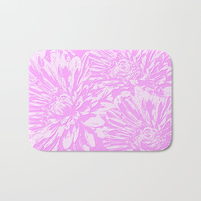 In The Pink Floral Abstract Bath Mat