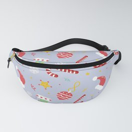 Christmas Is Here Pattern in White Fanny Pack