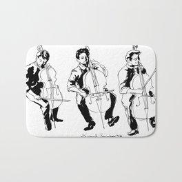Cello player Bath Mat